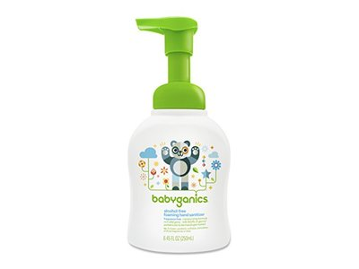 Babyganics Alcohol-Free Foaming Hand Sanitizer, Fragrance Free, 8.45oz Pump Bottle - Image 1