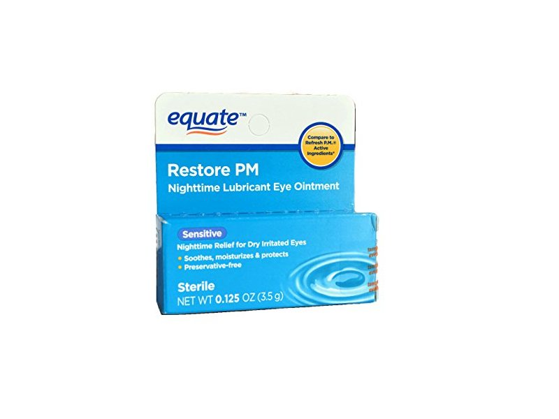 Equate Nighttime Lubricant Eye Ointment Sensitive, Compare to Refresh P.M.