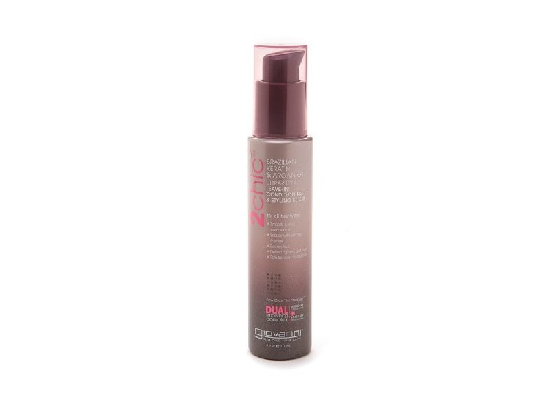 Giovanni 2chic Brazilian Keratin Argan Oil Collection Leave in Styling Elixir - 4 Oz