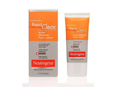Neutrogena Rapid Clear Acne Defense Face Lotion, Johnson & Johnson - Image 1