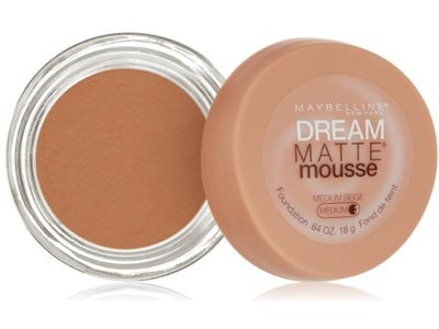 Maybelline Dream Matte Mousse Foundation, Medium Beige, 0.64 ounce - Image 1