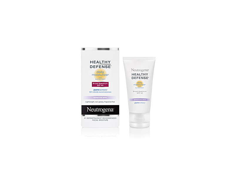 Neutrogena Healthy Defense Daily Moisturizer With Sunscreen Broad Spectrum SPF 50, Johnson & Johnson