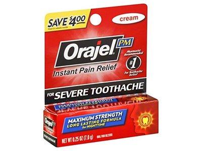 Orajel Maximum Strength Nighttime Toothache Pain Relief Cream