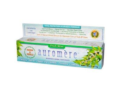 Auromere Ayurvedic Herbal Toothpaste, Fresh Mint, 4.16 oz