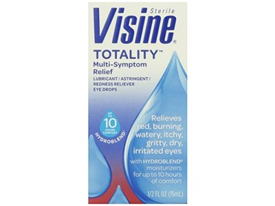 Visine, Multi-Symptom Relief Eye Drops Totality, Lubricant & Astringent Redness Reliever, 0.5 oz - Image 3