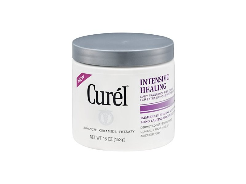 Curel Daily Cream Intensive Healing Fragrance-Free, 16 FZ (Pack of 6)