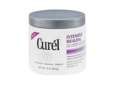 Curel Daily Cream Intensive Healing Fragrance-Free, 16 FZ (Pack of 6) - Image 1