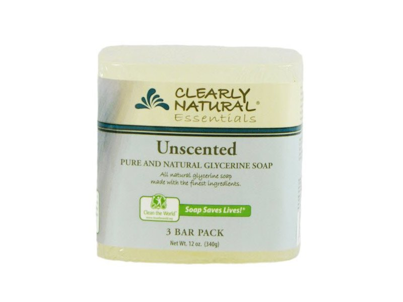 Clearly Natural Glycerine Bar Soap, Unscented, 3 Count