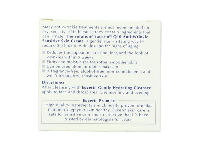 Eucerin Q10 Anti-wrinkle Sensitive Skin Creme, Beiersdorf, Inc.