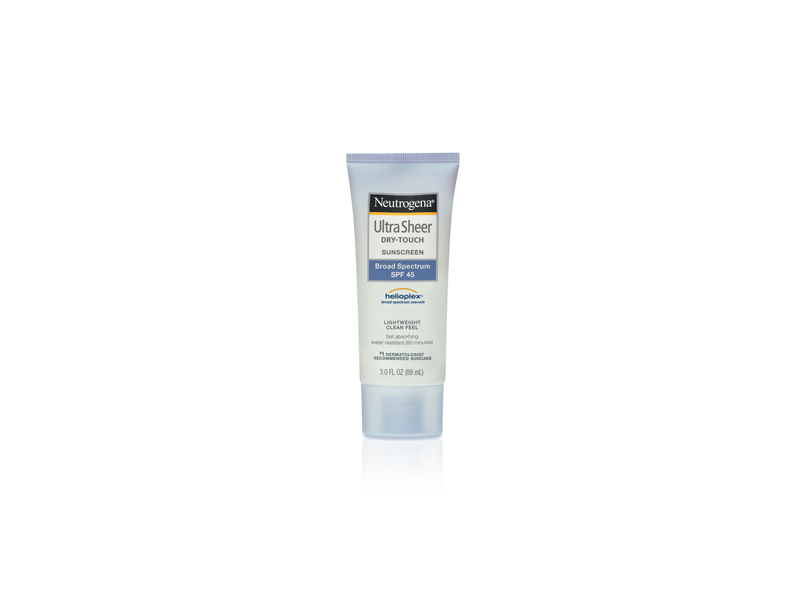 Neutrogena Ultra Sheer Dry-touch Sunscreen Broad Spectrum SPF-45, Johnson & Johnson