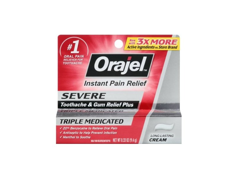 Orajel Instant Pain Relief For Severe Toothache, Cooling Gel, Church & Wight Co., Inc.