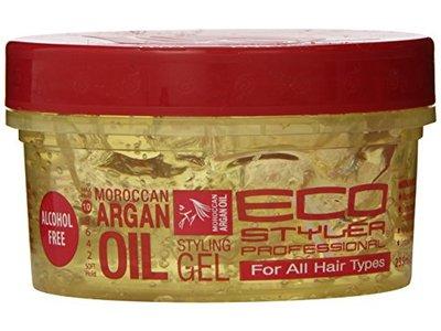 EcoStyler Moroccan Argan Oil Styling Gel, 8 Fluid Ounce