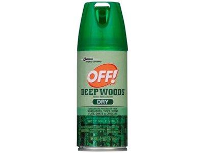 OFF! Deep Woods Dry Aerosol, 2.5 Ounce