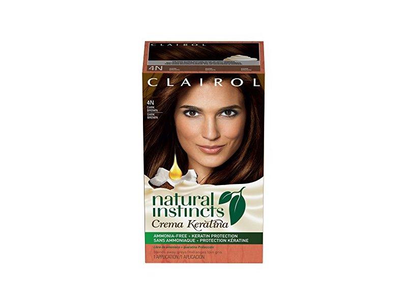 Clairol Natural Instincts Crema Keratina Hair Color Kit Dark Brown 4 Coffee Creme Ingredients And Reviews