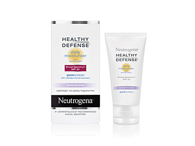 Neutrogena Healthy Defense Daily Moisturizer With Sunscreen Broad Spectrum SPF 50 - Sensitive Skin, Johnson & Johnson - Image 1