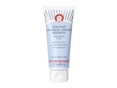 First Aid Beauty Ultra Repair Pure Mineral Sunscreen Moisturizer, SPF 40, 2 oz