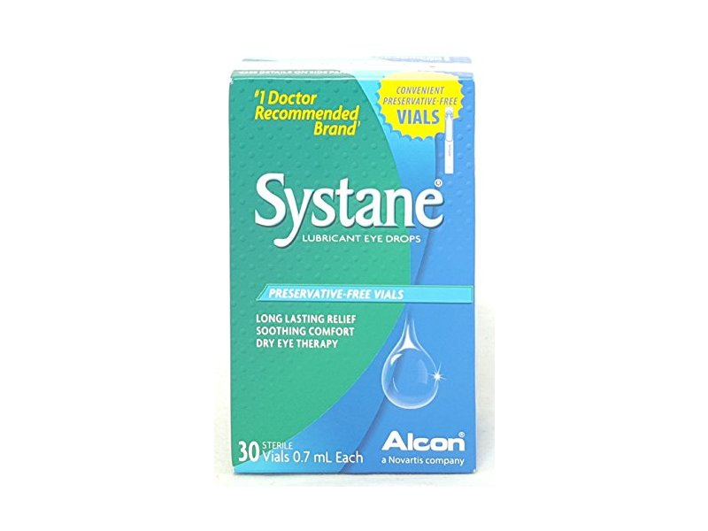 Systane Eye Drops Preservative-Free Single Use Vials, 30 Count Per Box