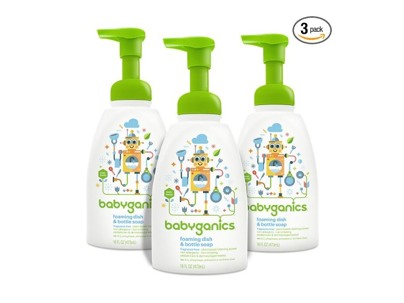 Babyganics Foaming Dish & Bottle Soap, Fragrance Free
