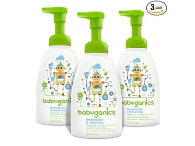 Babyganics Foaming Dish & Bottle Soap, Fragrance Free - Image 1