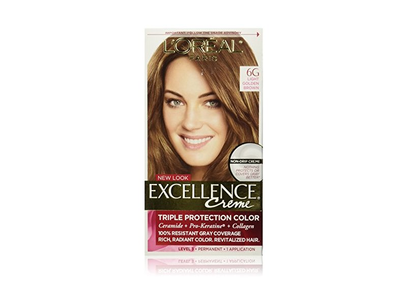 Loreal Excellence Creme Hair Color 6g Light Golden Brown