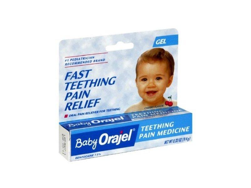 Baby Orajel Teething Pain Medicine Gel Cherry Flavor