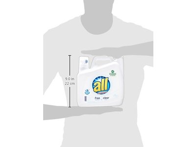 All Free Clear Liquid Laundry Detergent with Stainlifters, 150 fl oz (100 loads) - Image 5