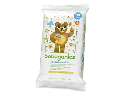 Babyganics Hand & Face Wipes, Fragrance Free, 30 Count (Pack of 4, 120 Total Wipes) - Image 5
