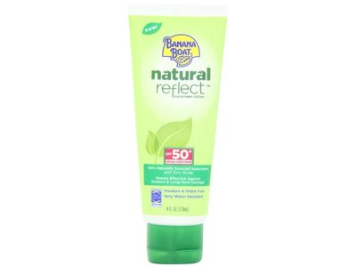 Banana Boat Natural Reflect Sunscreen Lotion SPF 50, 4 Fluid Ounce - Image 1