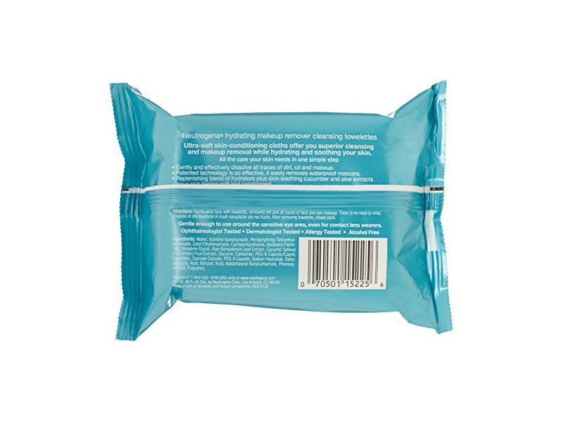 Neutrogena Makeup Remover Cleansing Towelettes Hydrating, Johnson & Johnson