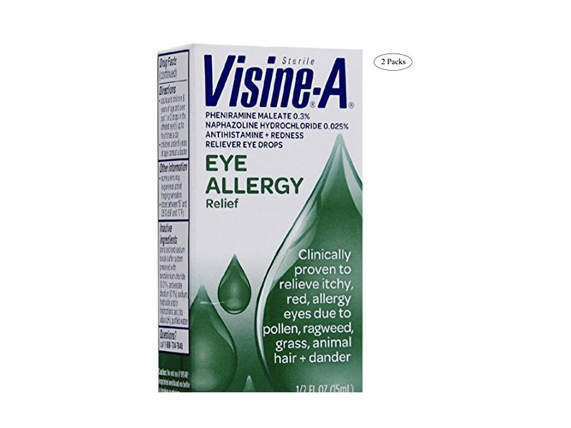 Visine-A Eye Allergy Relief, Antihistamine & Redness Reliever Eye Drops