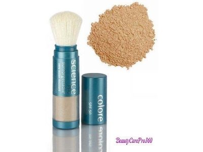 Colorescience Sunforgettable Mineral Powder Brush SPF 50 Matte 0.21 oz.