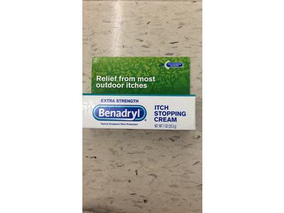 Benadryl Itch Stopping Cream, Extra Strength, 1 Ounce (Pack of 2