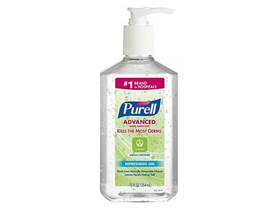 Purell Advanced Hand Sanitizer Gel, 12 oz Pump Bottle, Clear (GREEN CERTIFIED) - Image 1