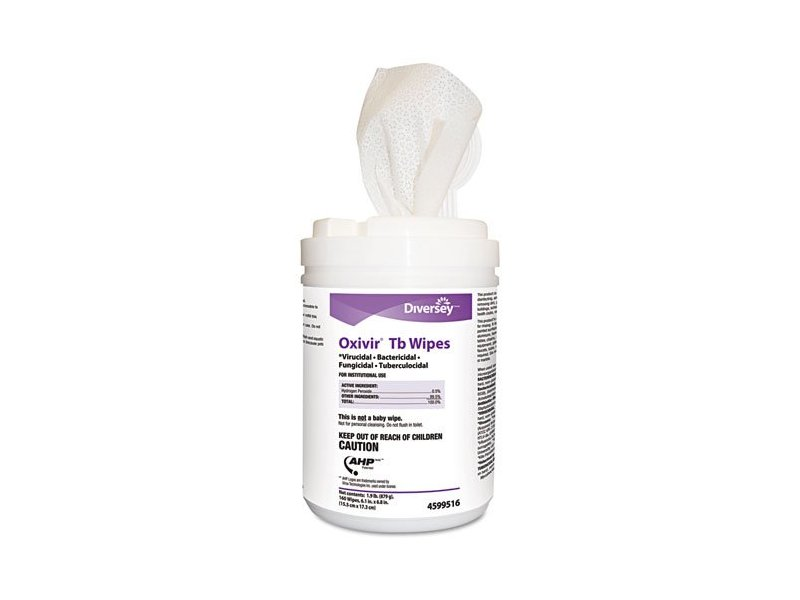 Diversey Oxivir TB Disinfectant Wipes AHP Technology in White