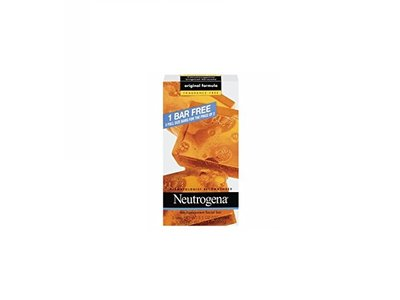 Neutrogena Transparent Facial Cleansing Bar, Fragrance Free, 3.5 oz each, 3 Bars