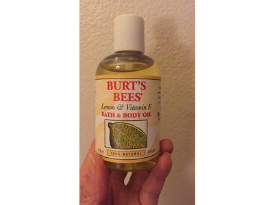 Burt's Bees Lemon & Vitamin E Bath & Body Oil, 4 Fluid Ounce - Image 5