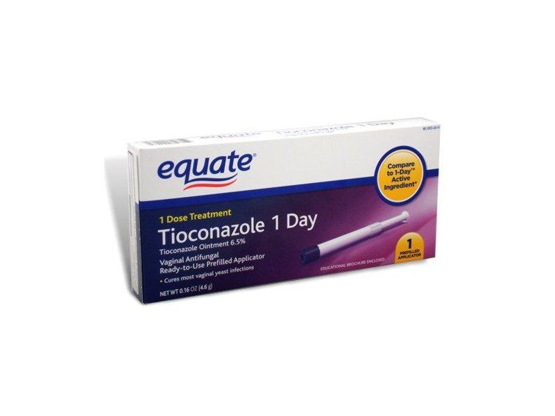 Equate Tioconazole 1 Day, Vaginal Antifungal Treatment, 0.16 oz