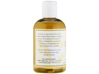 Burt's Bees Lemon & Vitamin E Bath & Body Oil, 4 Fluid Ounce - Image 4
