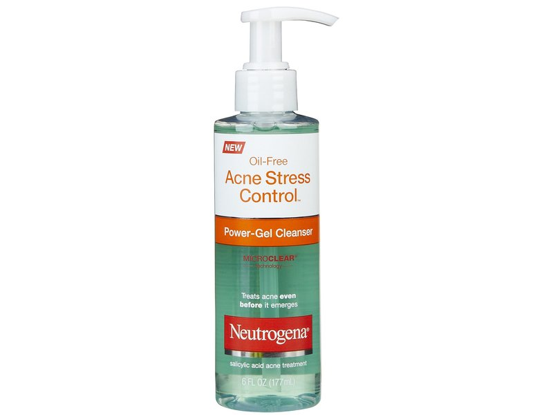 neutrogena oil-free acne stress control power-gel cleanser, johnson & johnson