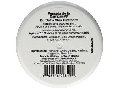 Dr Bells Skin Ointment Pomada De La Campana 26 Oz Ingredients