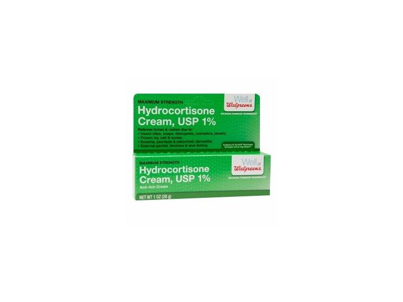Walgreens Hydrocortisone Cream, USP 1%, 1 oz