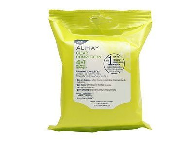 Almay Clear Complexion 4 in 1 Makeup Remover, 25 Pre-Moistened Towelettes