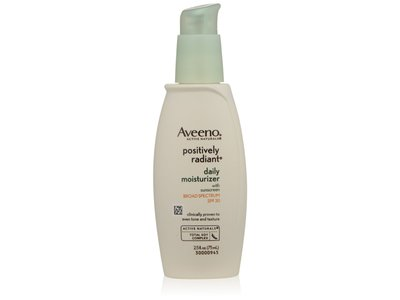 Aveeno Active Naturals Positively Radiant Daily Moisturizer, SPF 30, 2.5 fl oz - Image 1