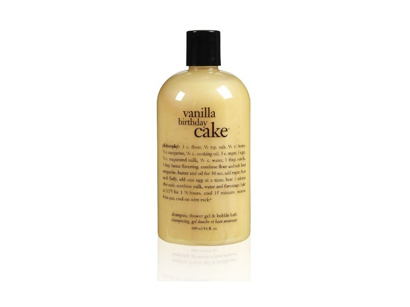 Philosophy Vanilla Birthday Cake Shampoo Shower Gel Bubble Bath 16 Ounces Loading Zoom
