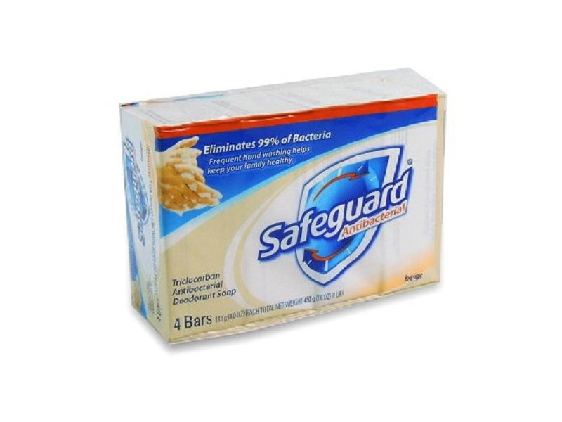 Safeguard Antibacterial Soap Beige 4 oz Each ( 4 in a Pack )