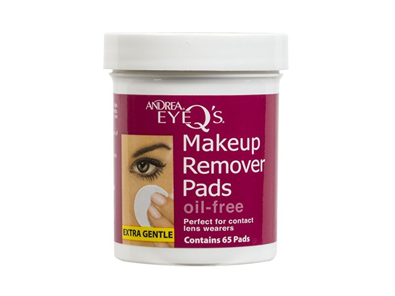 Andrea Eye Qs Oil Free Eye Makeup Remover Pads 65 Count Pack Of 6