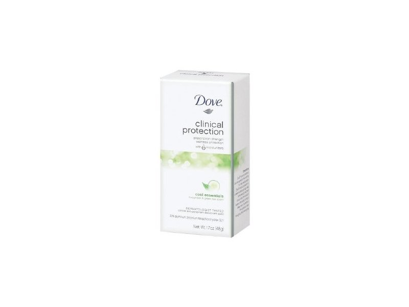 Dove Clinical Protection Antiperspirant & Deodorant Solid, Cool Essentials: Cucumber & Green Tea