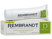 Rembrandt Deeply White + Peroxide Whitening Toothpaste With Fluoride, Fresh Mint, Johnson & Johnson - Image 1