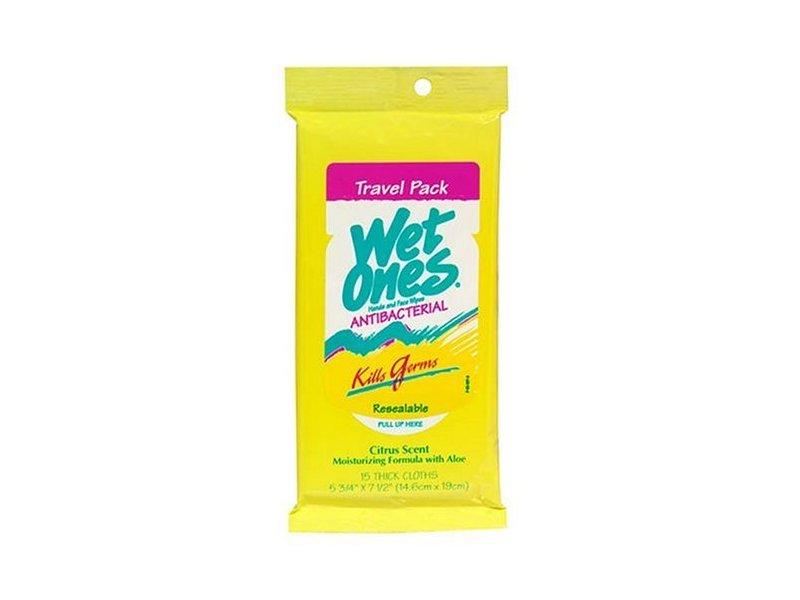 Wet Ones Citrus Antibacterial Hand Wipes Travel Pack, 15-Count