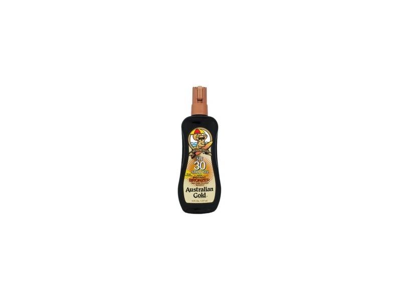 Australian Gold SPF 30 Spray Gel with Instant Bronzer, 8 fl oz